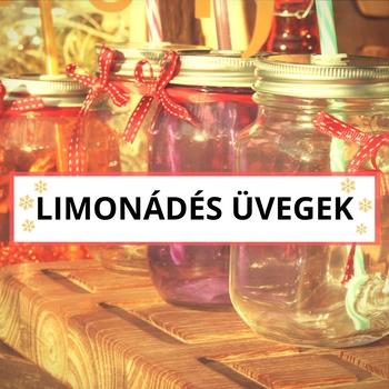 Limonádés üvegek