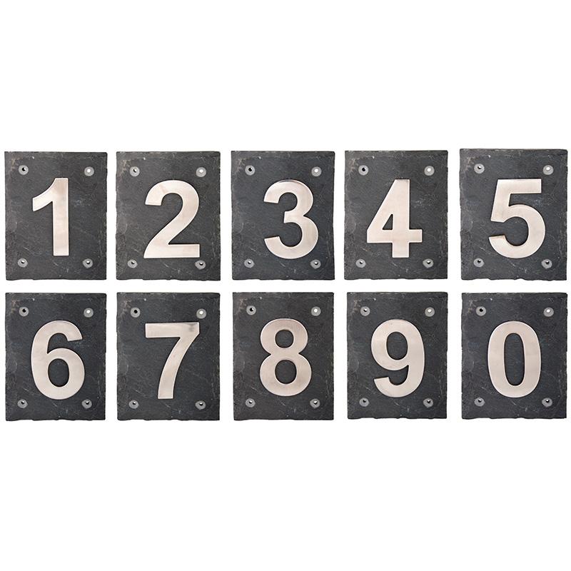 Klasszikus acél házszám
