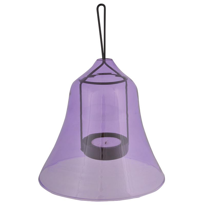 Csengő alakú lila mécsestartó