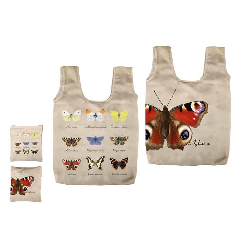 Összehajtható pillangós táska