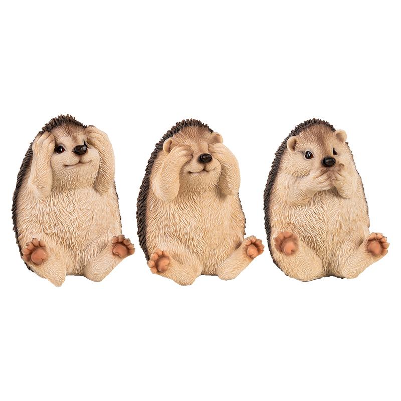 3 bölcs süni, nem, lát, nem hall, nem beszél polyresin szobor, 3 féle