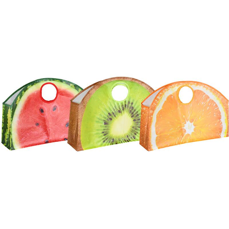 Táska gyümölcs mintákkal