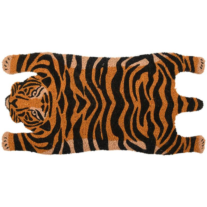 Tigris alakú kókuszrost lábtörlő 75 x 38 cm