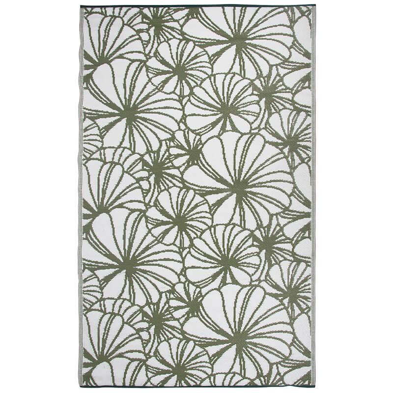 Kültéri szőnyeg, virág mintával