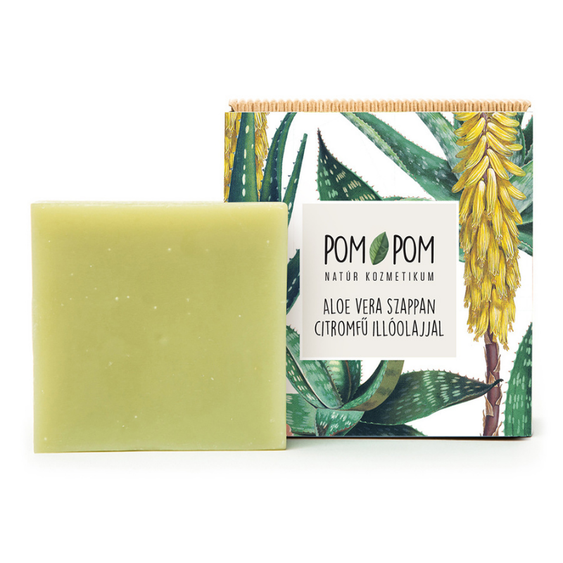 Aloe Vera szappan citromfű illóolajjal, Pom-Pom