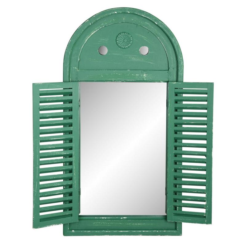 Antikolt zöld tükör