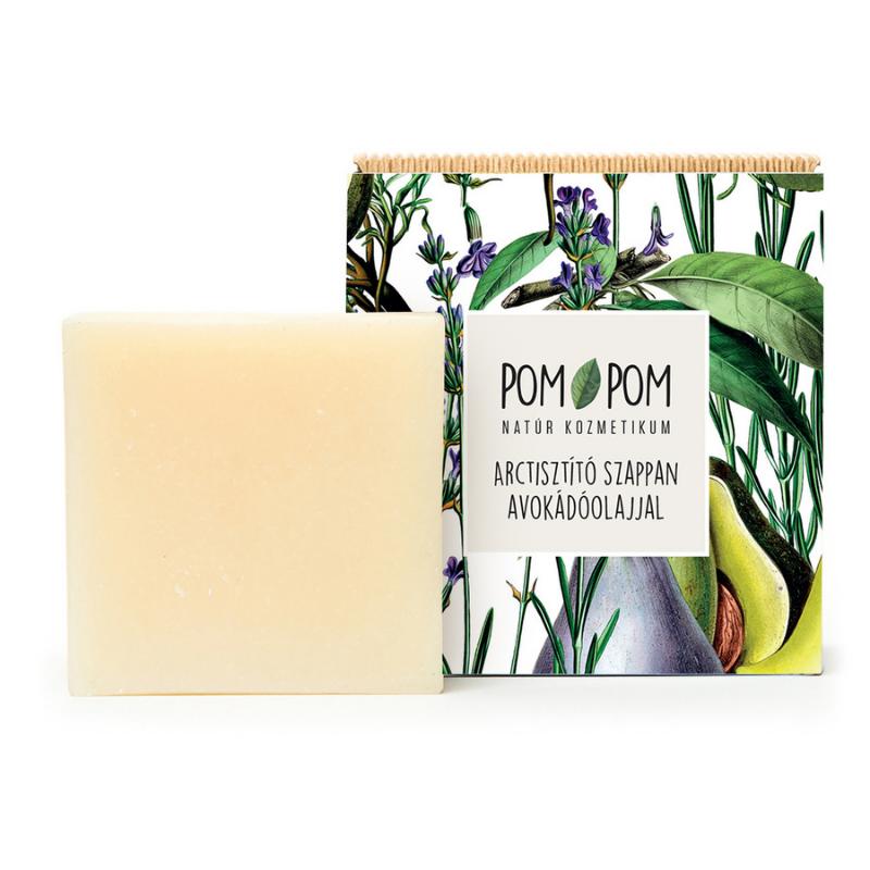 Arctisztító szappan avokádóolajjal, Pom-Pom
