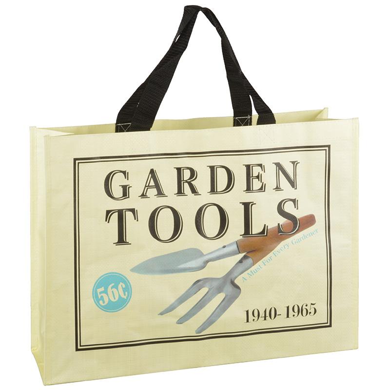 Bevásárló táska - kerti lapát és villa mintával