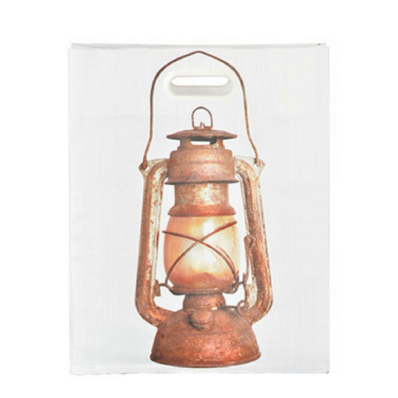 Bevásárló táska, lámpás mintával