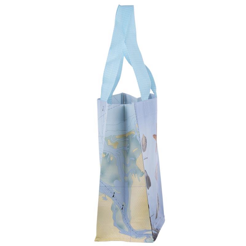 Tengerpart mintás bevásárló táska, S