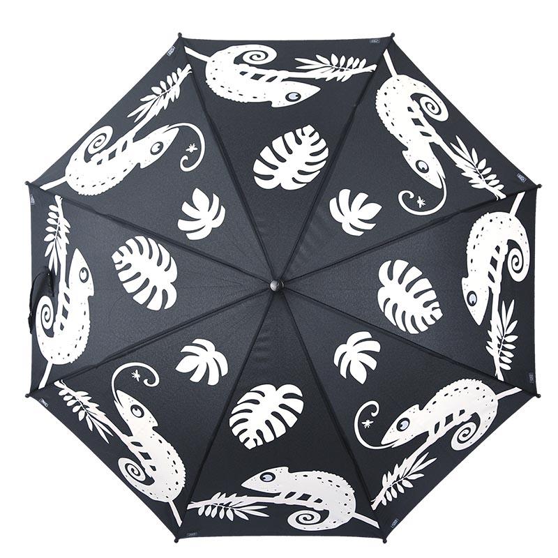 Esőre színváltós kaméleon mintás gyerek esernyő