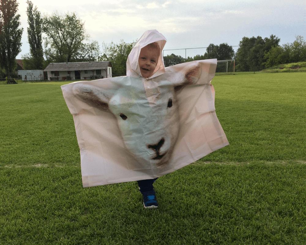 Bárányos gyerek esőkabát