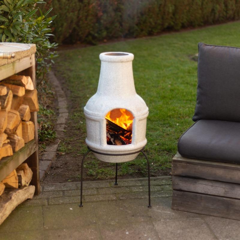 Beton hatású kerámia grill tűzhely, S