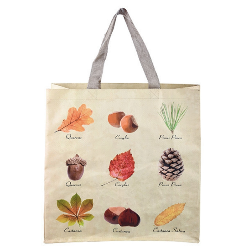 Erdei mintás bevásárló táska