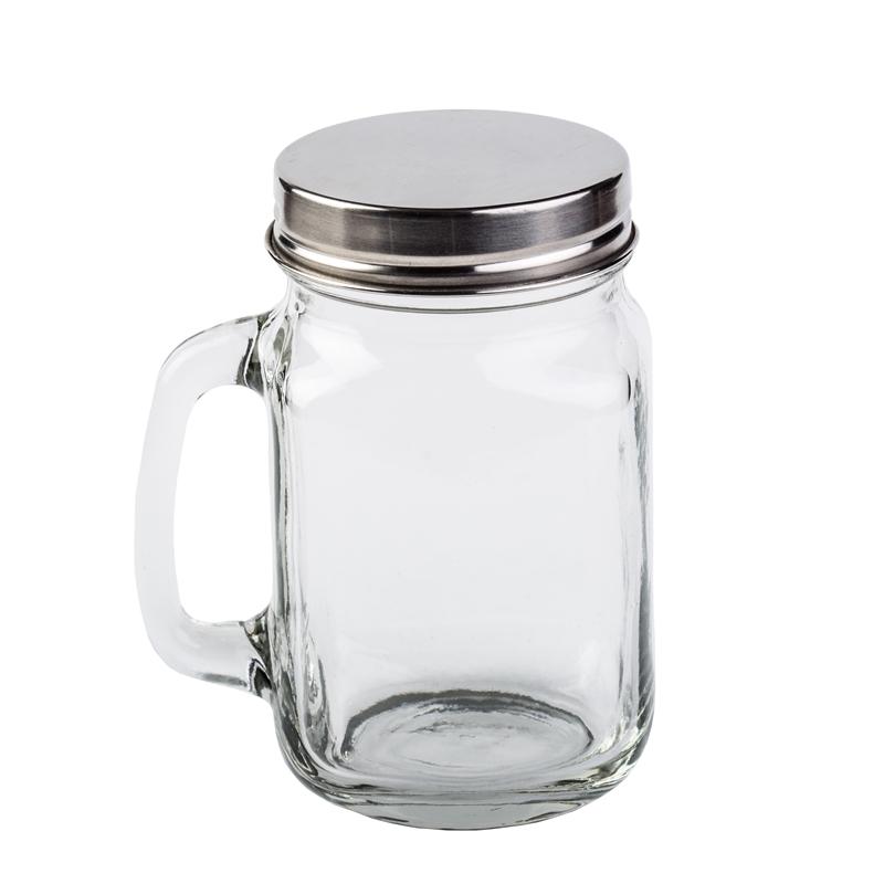 Üveg bögre tetővel 0,4 L