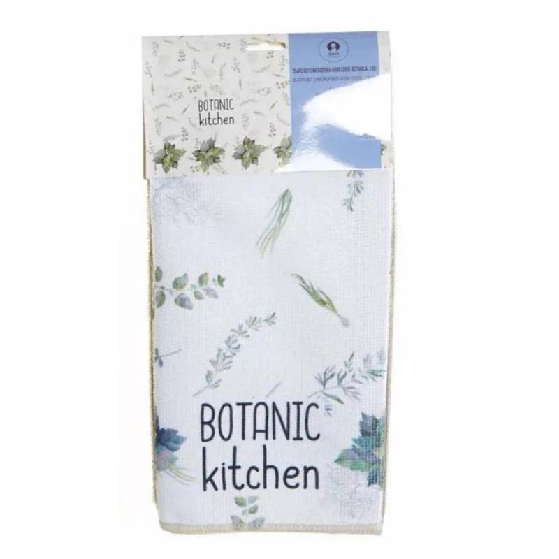 Botanikus mikroszálas konyharuha szett (2db-os)