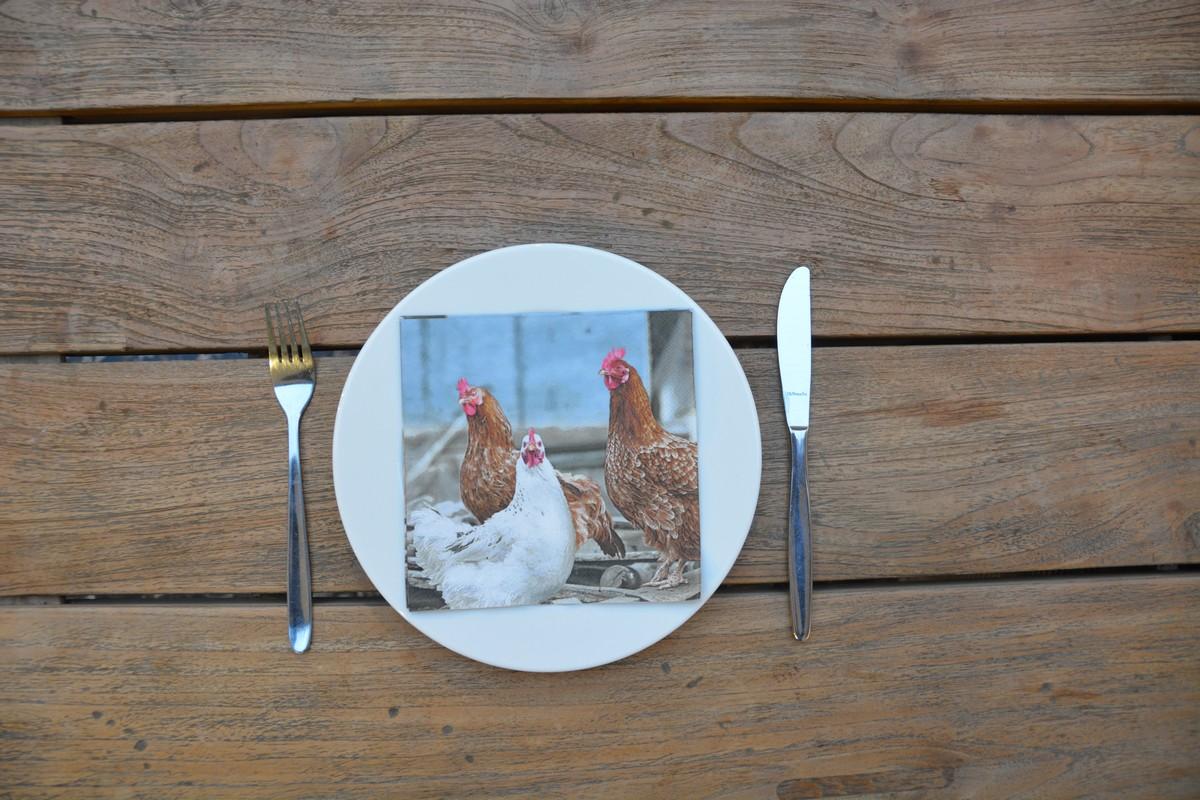 Csirkés szalvéta
