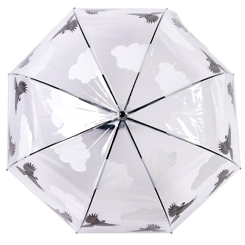 Cinegés átlátszó esernyő