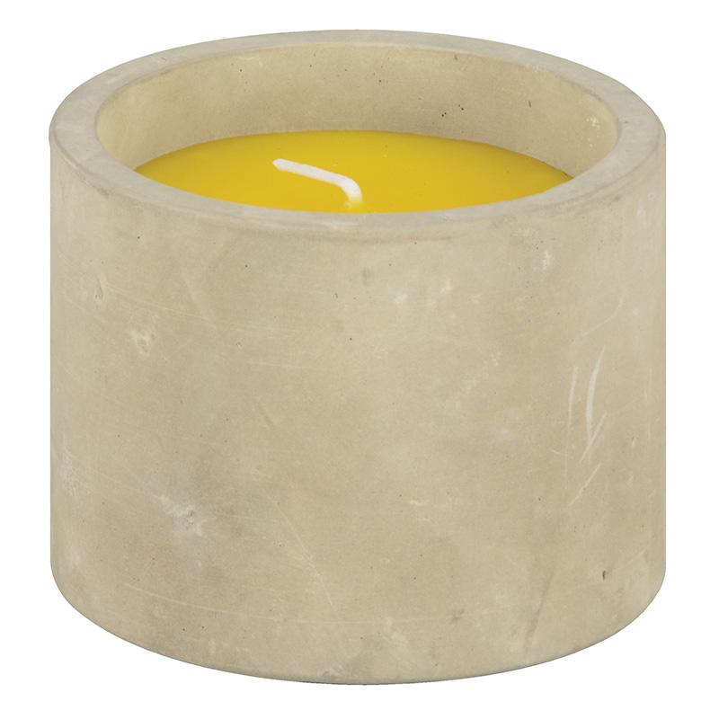 Citrusos gyertya beton cserépben