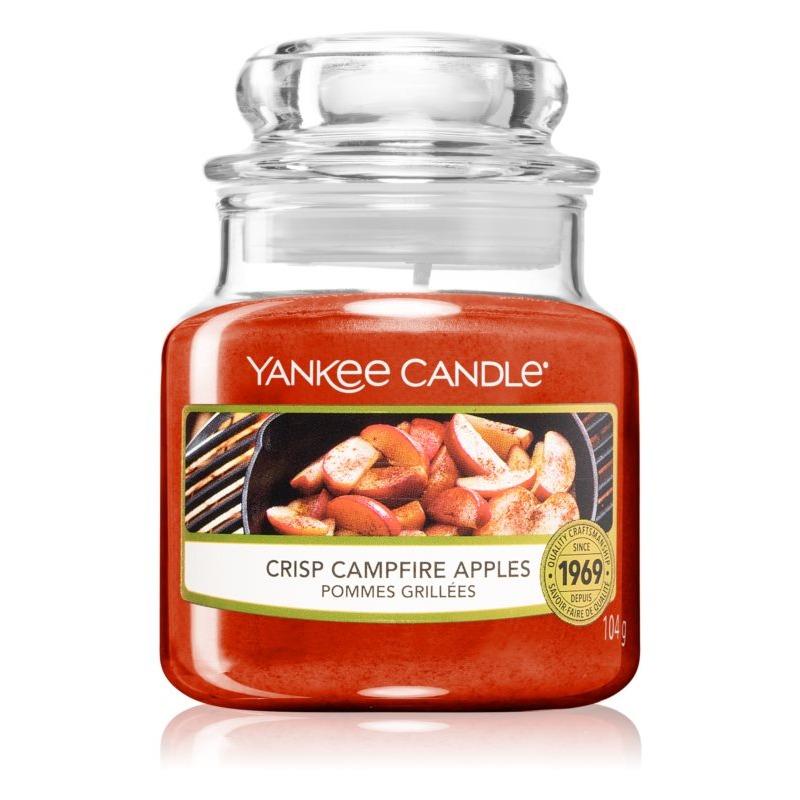 Crisp Campfire Apples, Yankee Candle illatgyertya, kicsi üveg (sült alma, szegfűszeg)