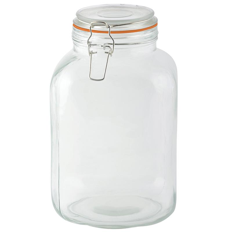 Csatos tároló üveg 3L