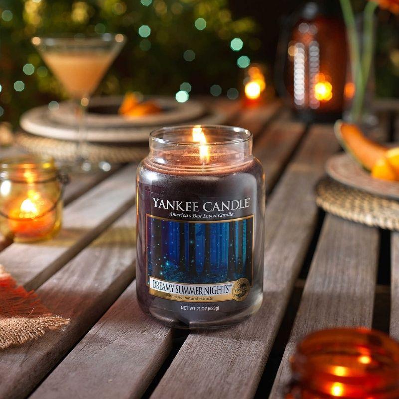 Dreamy Summer Nights, Yankee Candle illatgyertya, kicsi üveg (kerti vaníliavirág, fás aroma)