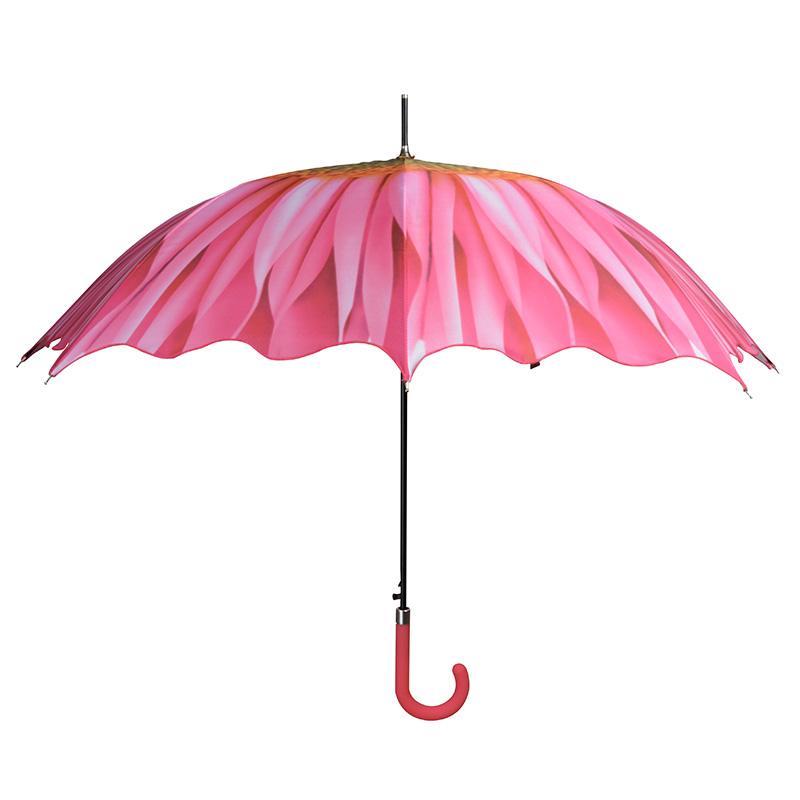 Rózsaszín virágos esernyő