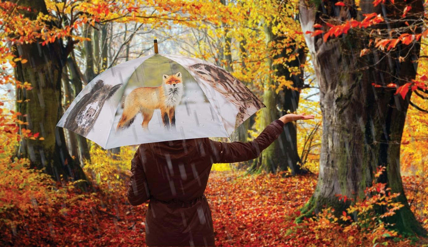 Esernyő téli állatokkal
