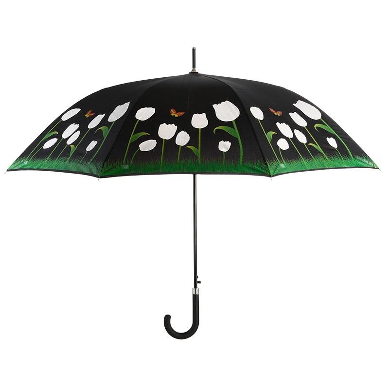 Esőre színváltós tulipános esernyő