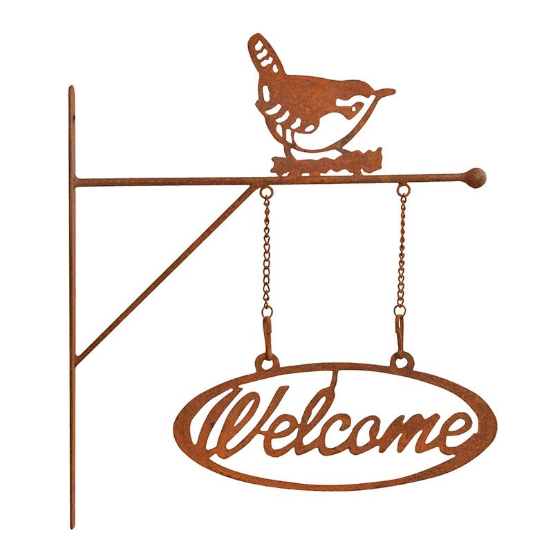 Fali köszöntő tábla WELCOME felirattal