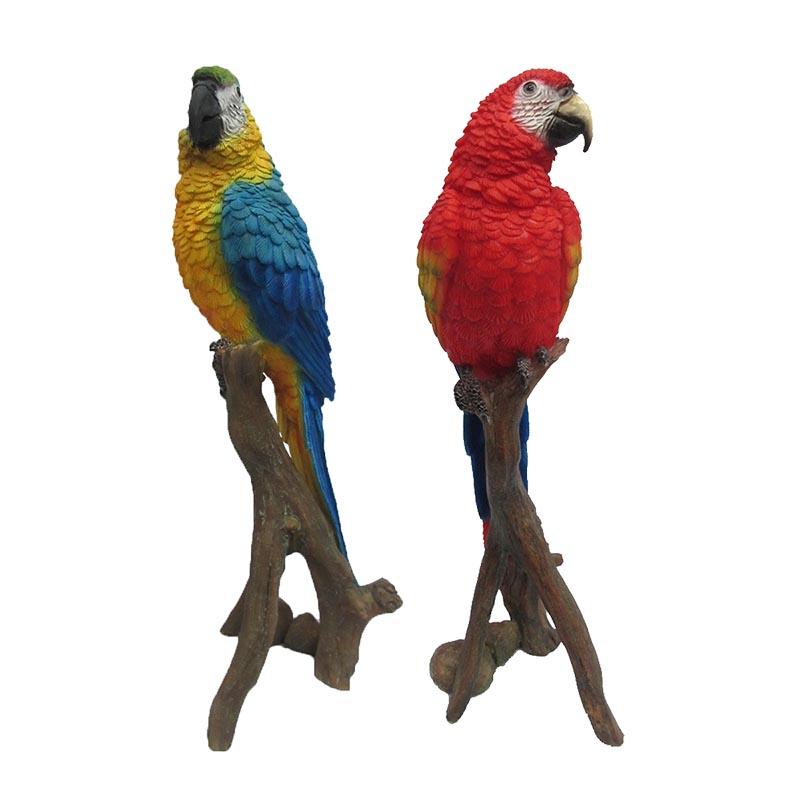 Faágon ülő papagáj szobor, 2 féle, M