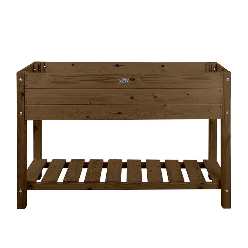 Fából készült magaságyás, barna, L, 118 x 40 cm