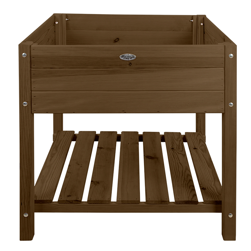 Fából készült magaságyás, barna, XL, 78 x 78 cm