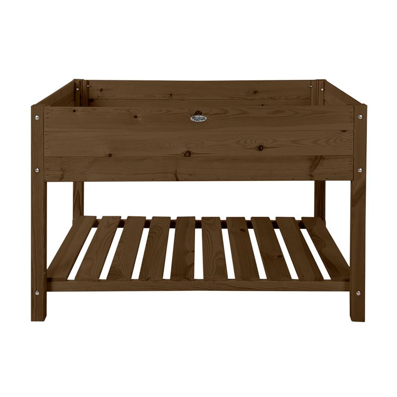 Fából készült magaságyás, barna, XXL, 118 x 78 cm