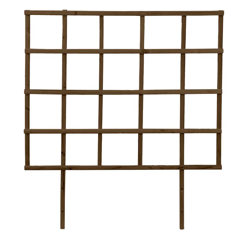 Fából készült magaságyás lugas, barna, S, 78 cm