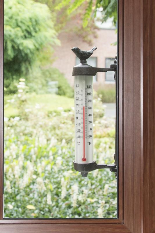 Falra rögzíthető madaras hőmérő