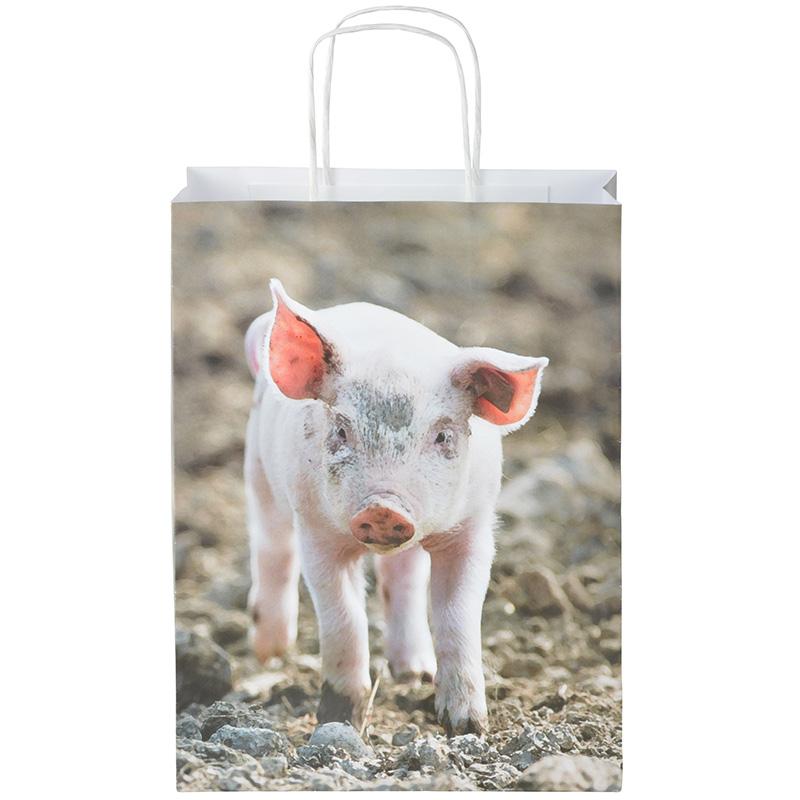 Farm állatos papírtáska 28 x 22 cm