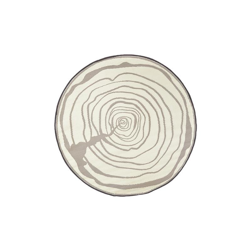 Fatörzs mintás, kör alakú, kétoldalú kültéri szőnyeg