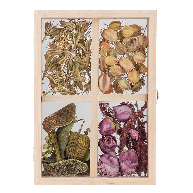 Szárított virág dekorációs tartó, L