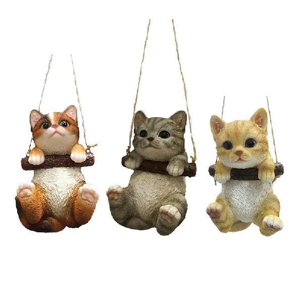 Függő cica szobor, 3 féle