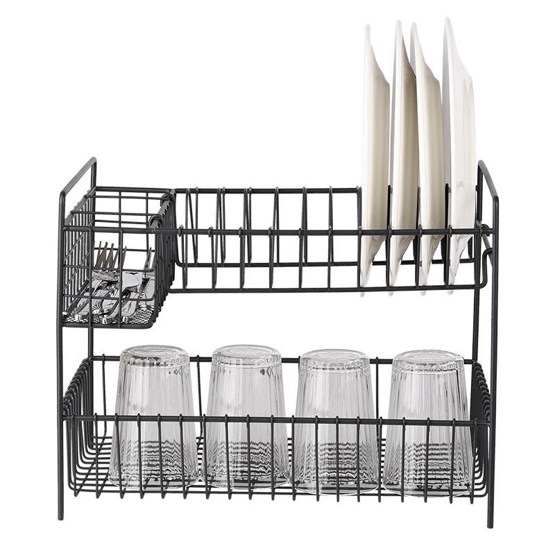 2 szintes, 3 rekeszes fémből készült edényszárító