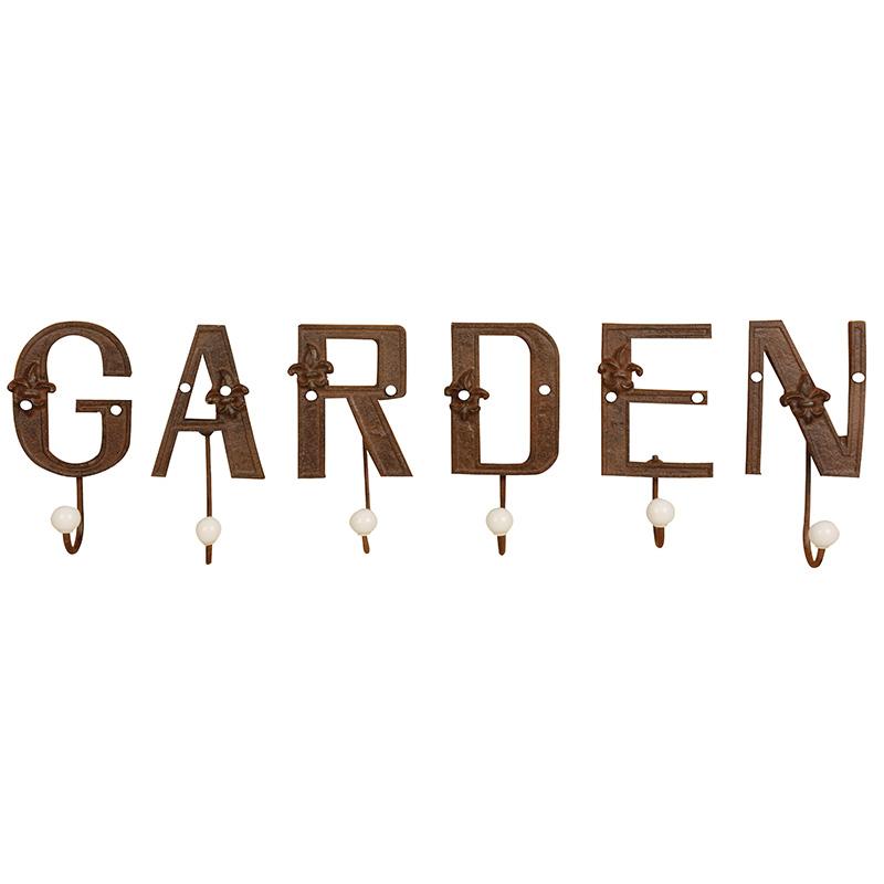 Garden feliratú akasztó