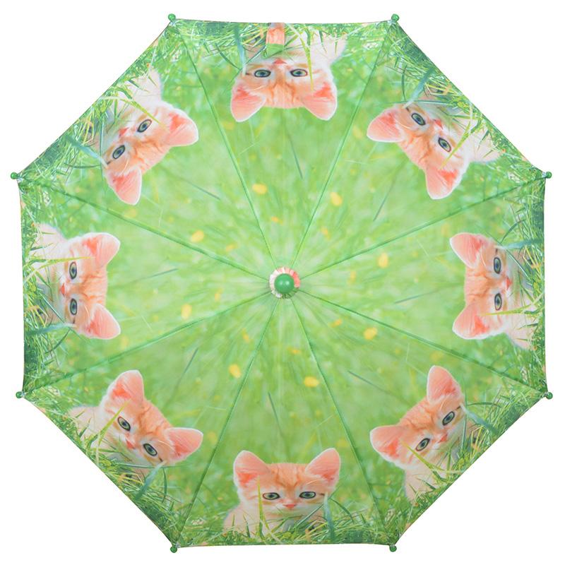 Vörös kiscicás gyerek esernyő
