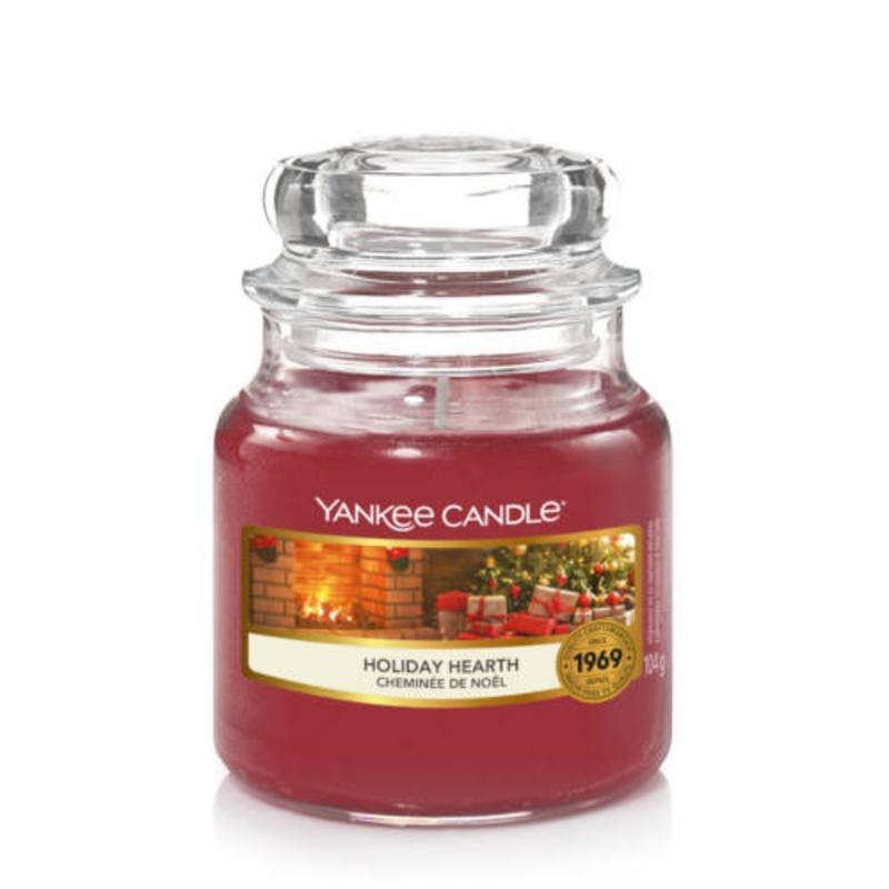 Holiday Hearth, Yankee Candle illatgyertya, kicsi üveg (fahéj, szegfűszeg, gardénia)