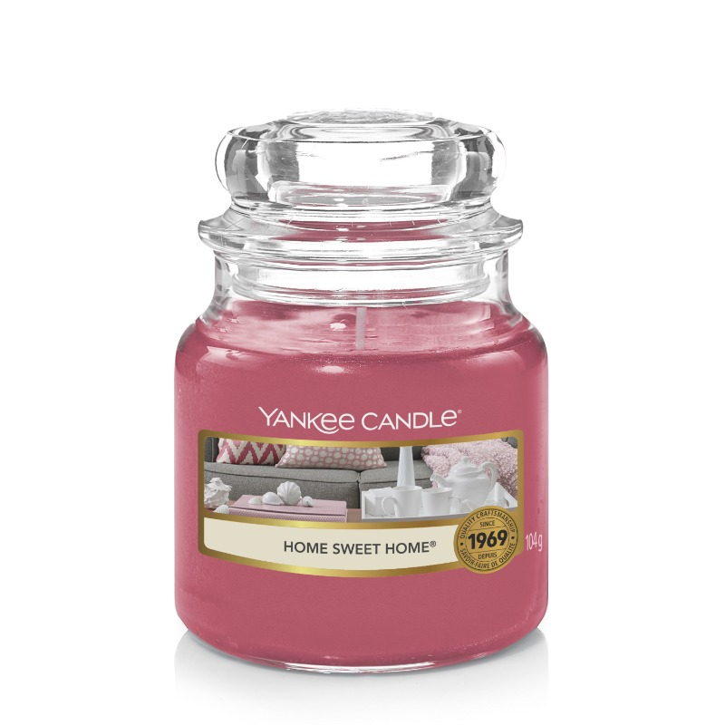 Home sweet home, Yankee Candle illatgyertya, kicsi üveg (fűszerek, friss tea)