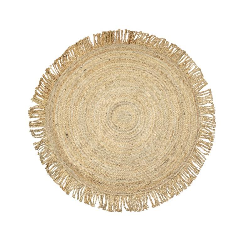 Juta szőnyeg, rojtos, Ø120cm
