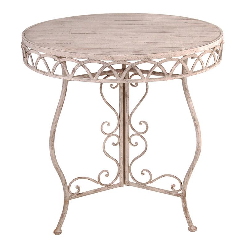 Kerek asztal, fa tetővel