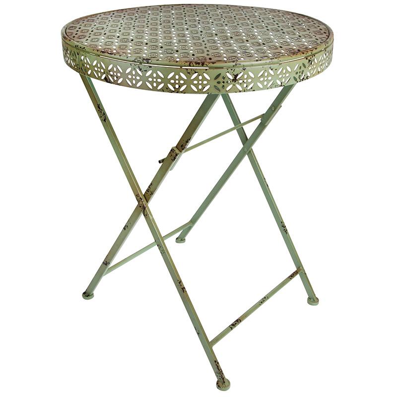 Zöld, kerek asztal