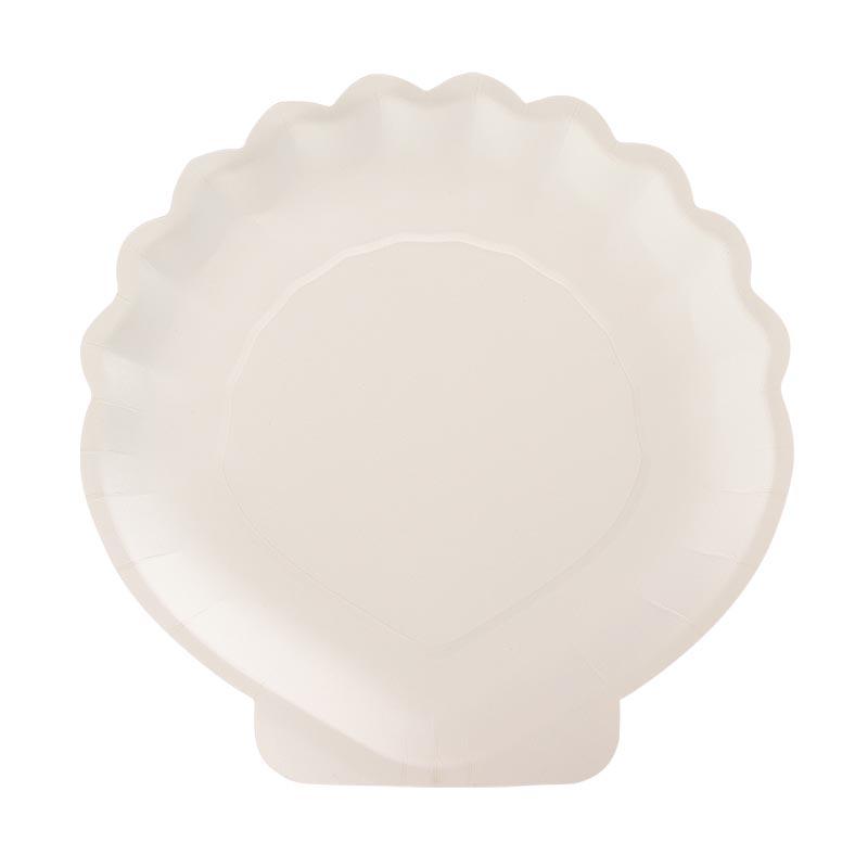 Kagyló alakú tányér szett, 10 db-os