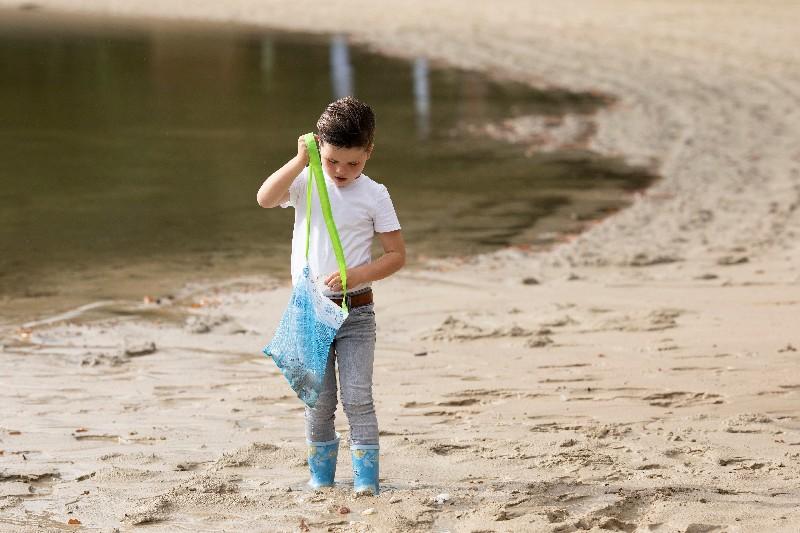 Kagyló gyűjtő táska gyerekeknek